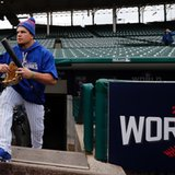 Schwarber won't play field at Wrigley Field this weekend