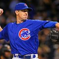 FILE - In this Sept. 26, 2016, file photo, Chicago Cubs starting pitcher Kyle Hendricks delivers during the first inning of a baseball game against the Pittsburgh Pirates, in Pittsburgh. The Chicago Cubs return home just one win shy of their first World Series appearance in 71 years, and they will have two chances to lock it up, leading the Los Angeles Dodgers 3-2 in the NLCS. The Cubs will send major league ERA champion Kyle Hendricks to the mound on Saturday against Dodgers ace Clayton Kershaw. (AP Photo/Gene J. Puskar, File)