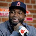 Boston Red Sox's David Ortiz speaks during a news conference before a baseball game against the Toronto Blue Jays at Fenway Park, Friday, Sept. 30, 2016, in Boston. (AP Photo/Elise Amendola)