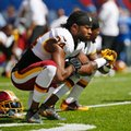 FILE - In this Sunday, Sept. 25, 2016, file photo, Washington Redskins cornerback Josh Norman stretches an NFL football game against the New York Giants in East Rutherford, N.J. Norman was fined $48,620 by the NFL on Friday, Sept. 30, 2016, for his unnecessary roughness foul on Giants wide receiver Sterling Shepard last week. (AP Photo/Kathy Willens, File)