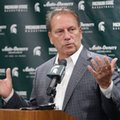 Michigan State coach Tom Izzo talks about the upcoming season during the team's NCAA college basketball media day, Thursday, Oct. 20, 2016, in East Lansing, Mich.
