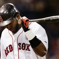 ADVANCE FOR SATURDAY, OCT. 1 - In this April 24, 2007, file photo, Boston Red Sox's David Ortiz walks back to the dugout after striking out against the Toronto Blue Jays in the ninth inning of their baseball game at Fenway Park in Boston. The Mariners traded him. The Twins released him. And even the Boston fans gave up on David Ortiz a couple of times, too, after he struggled to start the spring or limped away before the season was over. But when this Red Sox season is over and Ortiz's career ends along with it, it will be by his choice and playing as well as he ever has. (AP Photo/Elise Amendola, File)