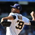 FILE - In this April 4, 2016, file photo, San Diego Padres starting pitcher Tyson Ross throws to a Los Angeles Dodgers batter during a baseball game in San Diego. Ross, an All-Star pitcher for San Diego two years ago, was among 35 players who became free agents when their teams declined to offer 2017 contracts on Friday, Dec. 2, 2016. (AP Photo/Lenny Ignelzi, File)