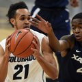 Derrick White, of Colorado, drives on Edmond Sumner, of Xavier, during an NCAA college basketball game in Boulder, Colo., Wednesday, Dec. 7, 2016.