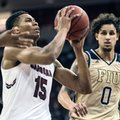 South Carolina guard PJ Dozier (15) attempts a shot against Florida International forward Michael Kessens (0) during the second half of an NCAA college basketball game, Sunday, Dec. 4, 2016, in Columbia, S.C. South Carolina defeated Florida International 70-54.