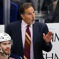 "FILE - In this Nov. 13, 2015, file photo, Columbus Blue Jackets' John Tortorella gives instructions during the third period of an NHL hockey game against the Pittsburgh Penguins, in Pittsburgh. Tortorella has taken to eliminating morning skates for his team, which has worked well. The Blue Jackets lead the NHL amid breaking with the morning skate routine that Tortorella called ""wrong"" and said ""doesn't make any sense."" (AP Photo/Gene J. Puskar, File)"