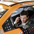 Daniel Suarez prepares to go out on the track during a NASCAR practice session at Daytona International Speedway, Friday, Feb. 24, 2017, in Daytona Beach, Fla. (AP Photo/John Raoux)