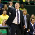 Kansas head coach Bill Self instructs his team in the second half of an NCAA college basketball game against Baylor on Saturday, Feb. 18, 2017, in Waco, Texas.