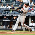 FILE - In this Oct. 2, 2016 file photo, Matt Wieters, then with the Baltimore Orioles, hits a two-run home run against the New York Yankees, in New York. The Washington Nationals agreed to terms on a one-year contract with a 2018 player option with catcher Matt Wieters on Friday, Feb. 24, 2017. (AP Photo/Kathy Kmonicek, File)