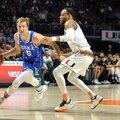 Duke guard Luke Kennard, left,attempts to drive past Miami guard Bruce Brown during first-half action in an NCAA college basketball game in Coral Gables, Fla., Saturday, Feb. 25, 2017.