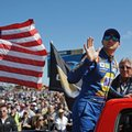 Chase Elliott waves to fans before the NASCAR Daytona 500 auto race at Daytona International Speedway in Daytona Beach, Fla., Sunday, Feb. 26, 2017. (AP Photo/John Raoux)