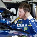 Dale Earnhardt Jr. prepares to get in his car during a NASCAR auto racing practice session at Daytona International Speedway, Friday, Feb. 24, 2017, in Daytona Beach, Fla. (AP Photo/John Raoux)