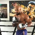 In this Thursday, Feb. 9, 2017, photo, unbeaten heavyweight contender Gerald Washington works with his training staff in Burbank, Calif. Washington takes on WBC heavyweight champion Deontae Wilder on Feb. 25 in Alabama. (AP Photo/Greg Beacham)