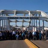 Black marchers, white re-enactors find common foe in Selma