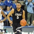 SAN DIEGO, CA - FEBRUARY 23: Gonzaga Bulldogs guard Nigel Williams-Goss (5) dribbles the ball during the first half against the San Diego Toreros on February 23, 2017, at Jenny Craig Pavilion in San Diego, CA.
