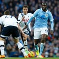 FILE - This is a Sunday Feb. 14, 2016 file photo of Manchester City's Yaya Toure, right, as he runs with the ball during the English Premier League soccer match between Manchester City and Tottenham Hotspur's at the Etihad Stadium in Manchester, England. It was one of the great sights of English soccer in recent years, Toure picking up possession in central midfield for Manchester City, and rampaging upfield but now he can found sitting in front of City's defense, reading the game, dictating its tempo, picking off opposition passes and starting attacks. (AP Photo/Jon Super, File)