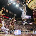 Florida State forward Jarquez Smith dunks against Boston College in the second half of an NCAA college basketball game in Tallahassee, Fla., Monday, Feb. 20, 2017. Florida State defeated Boston College 104-72.
