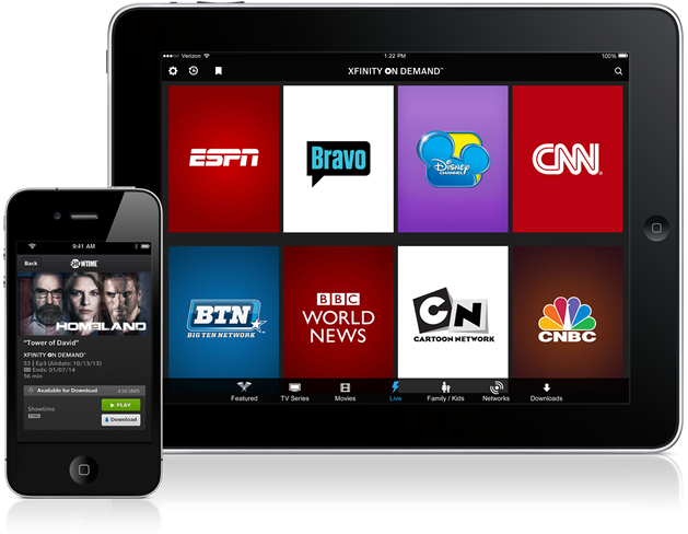 Xfinity Tv TV On The Go, Access t...