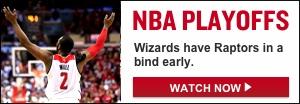 Watch Live: Raptors-Wizards