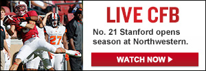 Watch Live: No. 21 Stanford vs. Northwestern