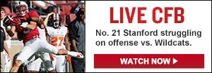 Watch Live: No. 21 Stanford vs. Northwestern